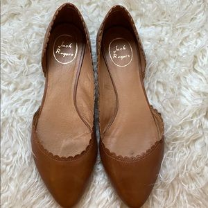 Jack Rogers Leather Brown Flats
